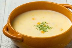 カブとコーンのスープ
