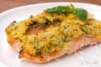 鮭のバジルパン粉焼き