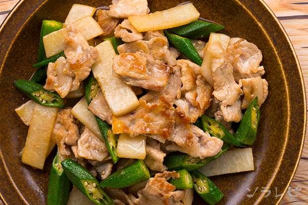 豚肉と長芋とオクラの炒め物_main2