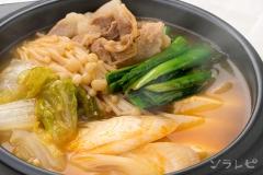 豆腐と野菜の味噌チゲ