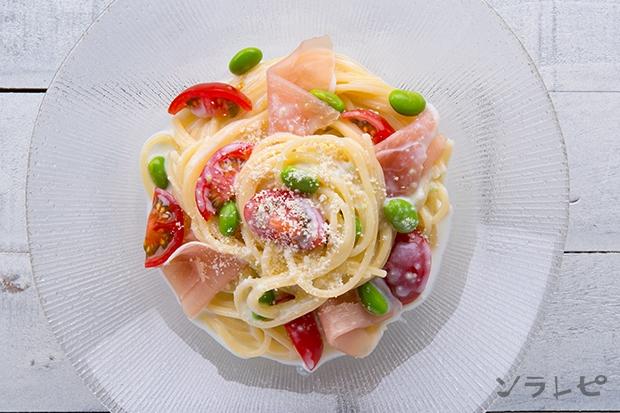 枝豆とトマトの冷製クリームパスタ_main2