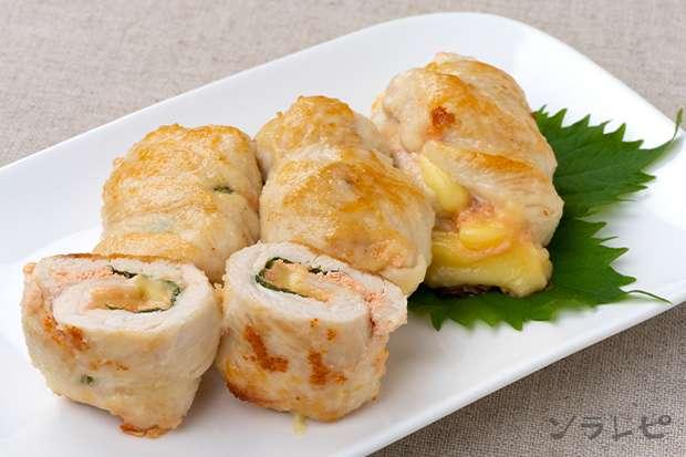 鶏ささみのしそ明太チーズ焼き