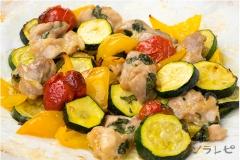 夏野菜とチキンのバジルオーブン焼き