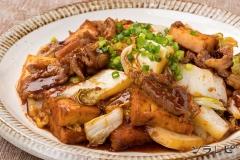 厚揚げと白菜の味噌オイスター炒め
