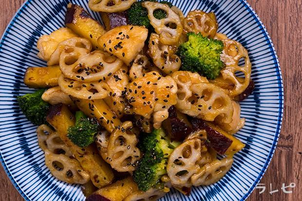 根菜とブロッコリーの甘辛炒め_main2