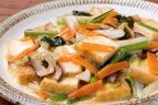 厚揚げと野菜の塩あんかけ炒め