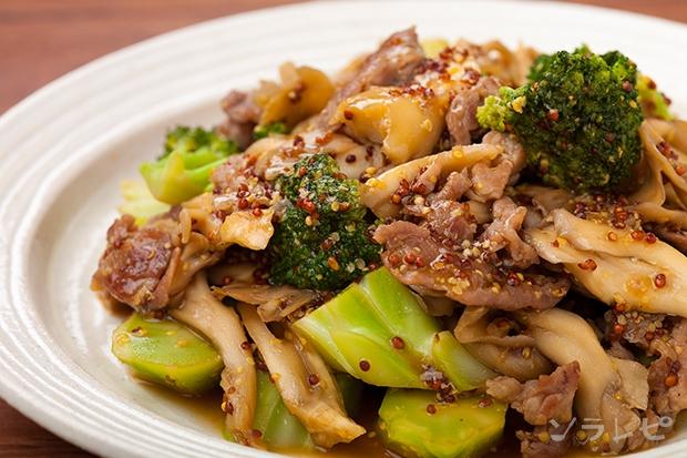ブロッコリーと豚肉のハニーマスタード炒め_main1
