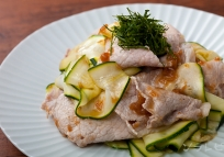 豚肉とズッキーニの梅肉ソース
