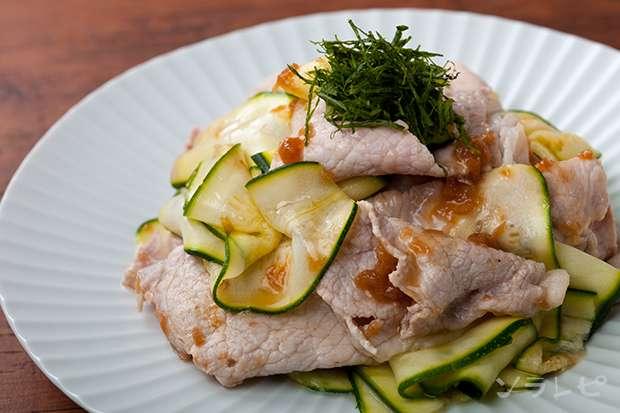 豚肉とズッキーニの梅肉ソース_main1