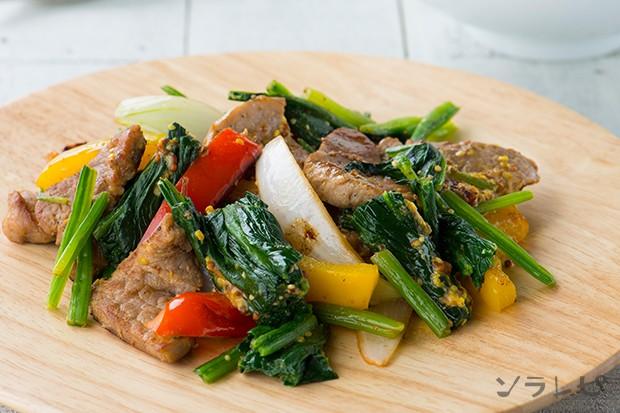 パプリカと豚肉のマスタード炒め_main1