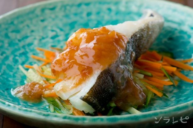 鱈のくずたたき梅肉ソースがけ_main1