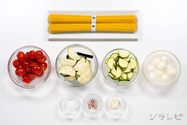 夏野菜とモッツァレラチーズのペペロンチーノ_main3