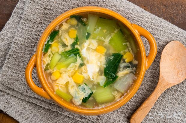 チンゲン菜と卵のスープ_main2
