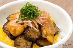 鶏肉とナスの香味照り焼き丼