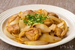 鶏肉とタマネギの味噌生姜炒め