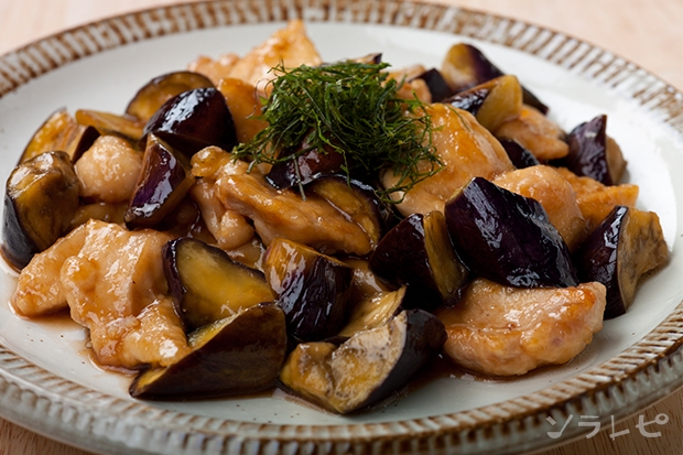 鶏肉と茄子の甘酢炒め_main1