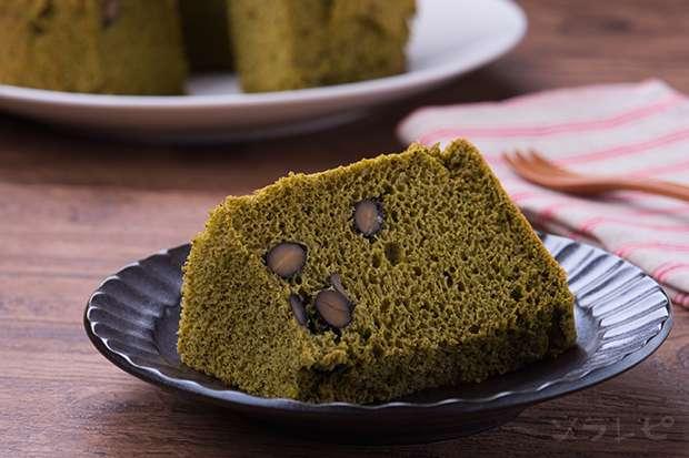 黒豆抹茶シフォンケーキ Black soybean & Matcha green tea chiffon cake_main1