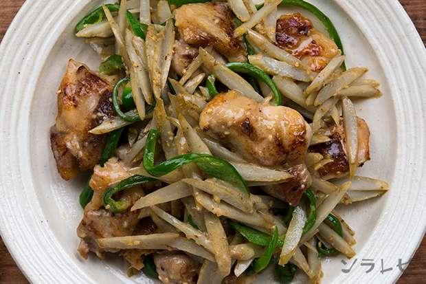 鶏肉とごぼうの味噌マヨ炒め_main2