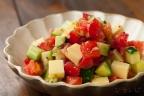 トマトときゅうりのマスタードサラダ