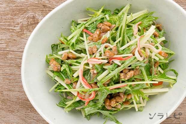 水菜とカニカマの納豆サラダ_main2