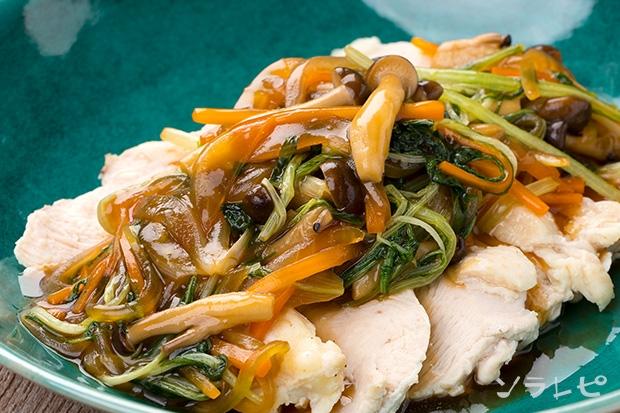 茹で鶏のさっぱり野菜あんかけ_main1