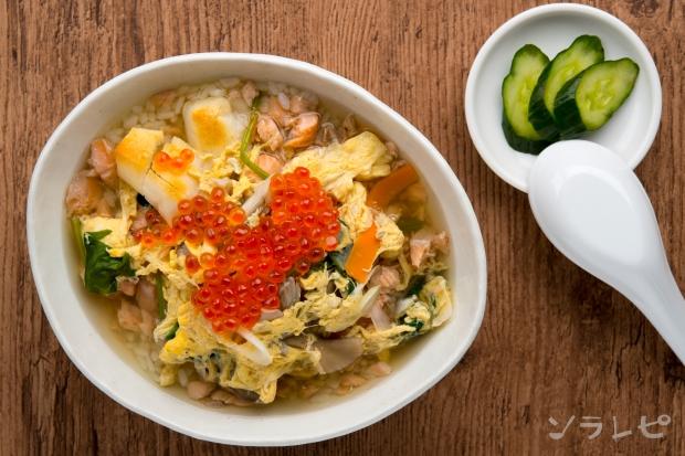 鮭とイクラのスープごはん_main2
