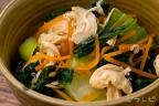 チンゲン菜とささみの和え物