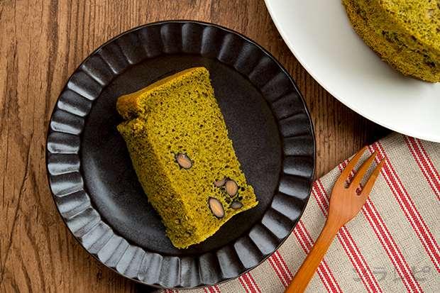 黒豆抹茶シフォンケーキ Black soybean & Matcha green tea chiffon cake_main2
