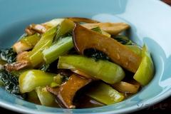 エリンギとチンゲン菜の中華煮込み