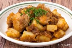 チキンとポテトのソテーオニオンソース