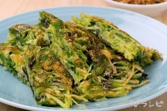 水菜の和風チヂミ