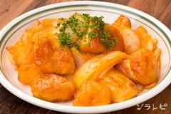 鶏ムネ肉とジャガイモのマヨケチャ炒め