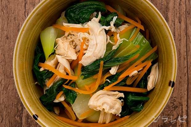 チンゲン菜とささみの和え物_main2