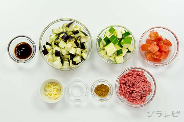 夏野菜の挽肉カレー炒め_main3