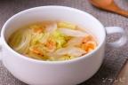 白菜と桜えびの野菜スープ