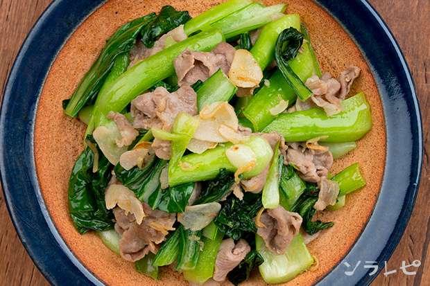 豚肉とチンゲンサイの塩炒め_main2