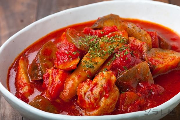 ゴボウのトマト煮込み
