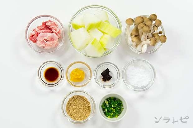 冬瓜と豚肉のごま味噌煮_main3