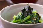 小松菜の海苔ゴマ和え