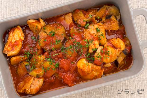 鶏肉と茄子のトマト煮_main2