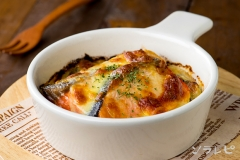 鮭と小松菜のチーズ焼き