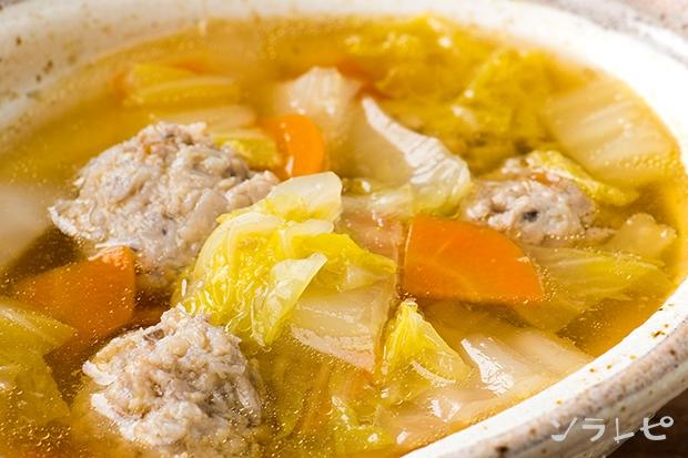 れんこん鶏団子の野菜スープ煮_main1