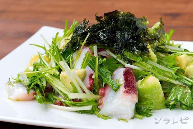 水菜とたこの韓国風サラダ_main1