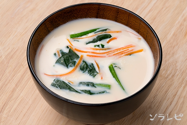 ほうれん草のミルク味噌汁_main1