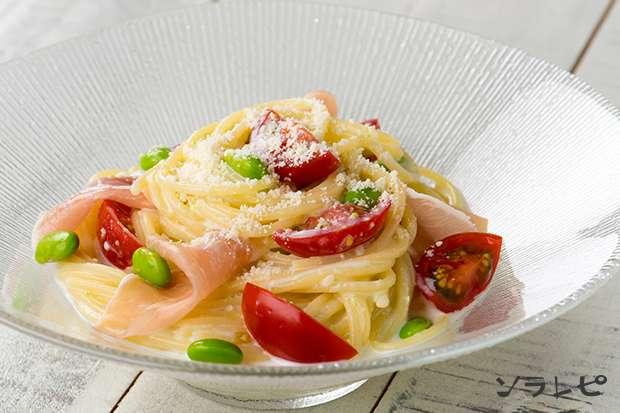 枝豆とトマトの冷製クリームパスタ_main1