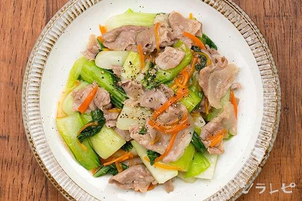 チンゲン菜と豚肉のあんかけ風炒め_main2