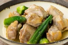 鶏肉とオクラのゆず胡椒煮
