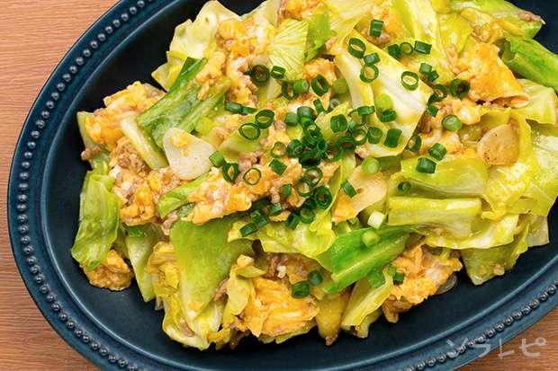 挽き肉とキャベツの卵炒め_main2