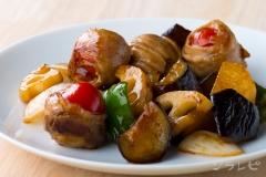 肉巻きトマトの黒酢豚