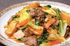 豚肉と厚揚げの野菜たっぷり味噌炒め